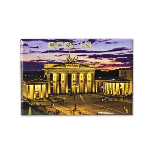 Fotomagnet Brandenburger Tor bei Nacht