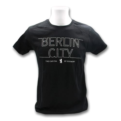 H Shirt B. City liniert schwarz