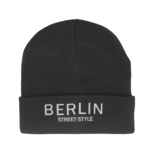 Mütze Berlin Street Style dunkelgrau