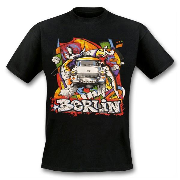 H Shirt Trabi bunt Berlin schwarz Größe S