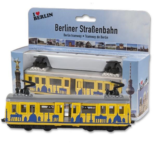 Strassenbahn Miniatur15cm Berlin gelb