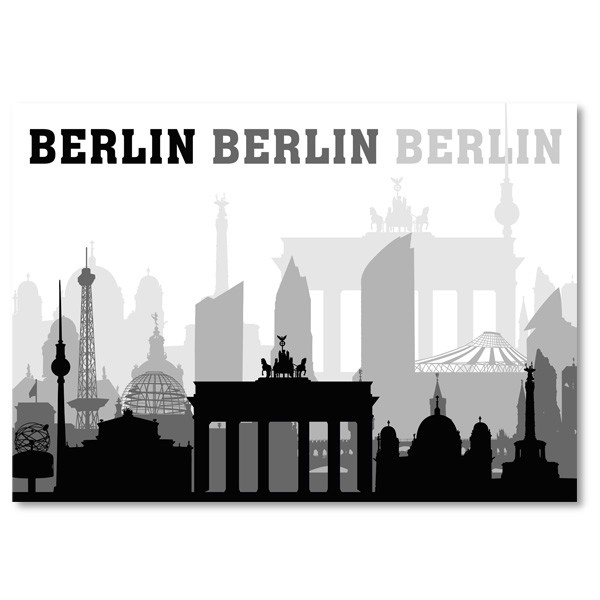 Postkarte Royal QF Berlin schwarz weiß