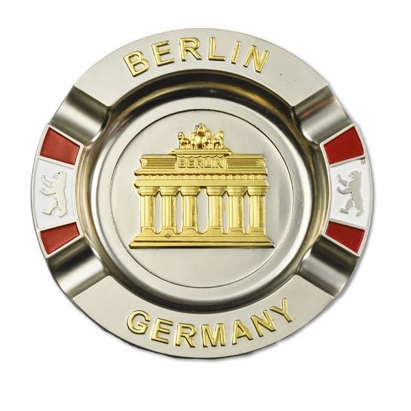 Aschenbecher Metall Brandenburger Tor mit Fahnen