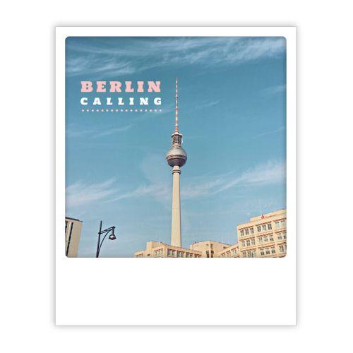 Polaroid Karte berlin calling alex Berlin