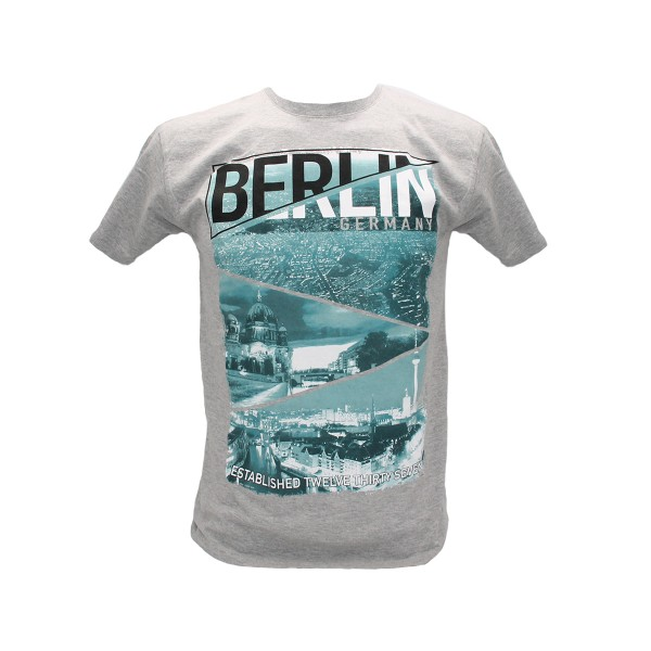 H Shirt Triangle Berlin heather grey Größe S