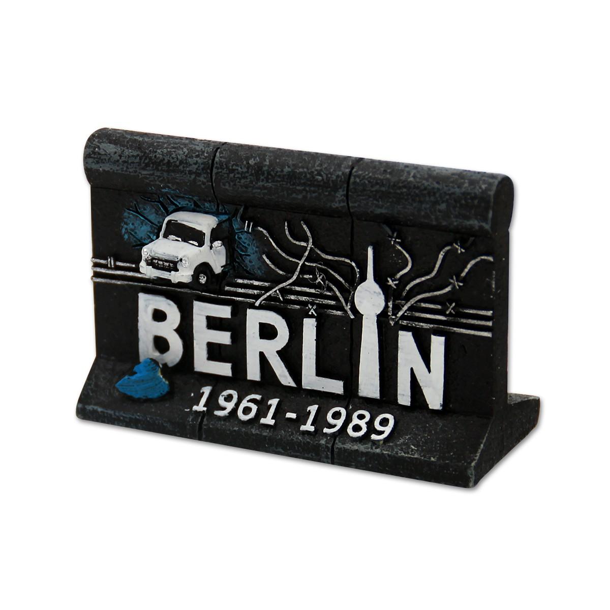 Miniatur Poly Mauer klein Trabi Stacheldraht 6cm