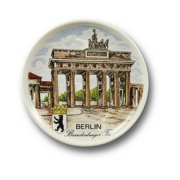 Untersetzer Porzellan BT neu Berlin weiß