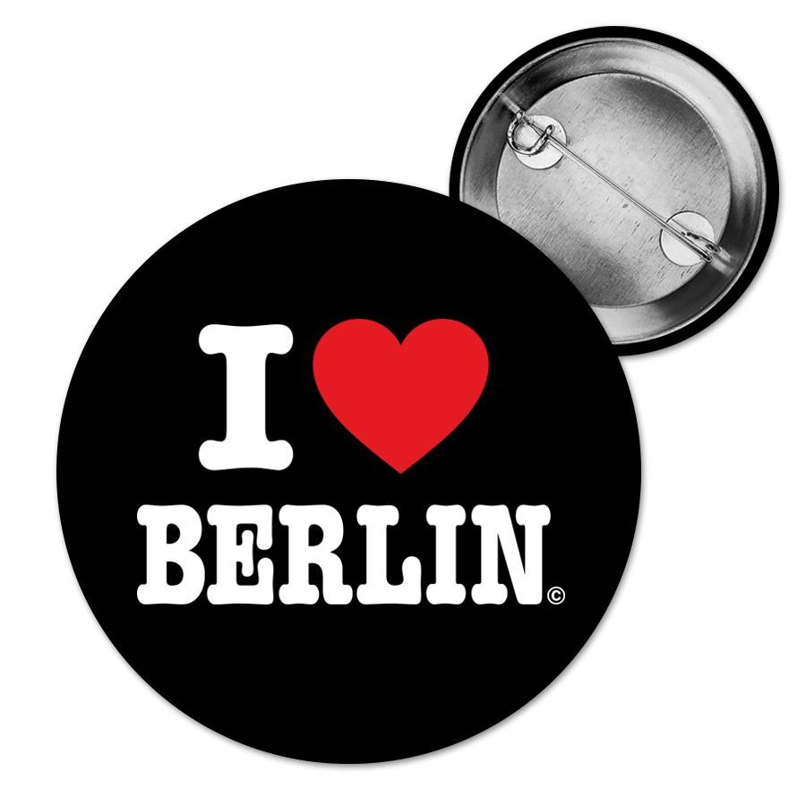 Button I (Herz) schwarz