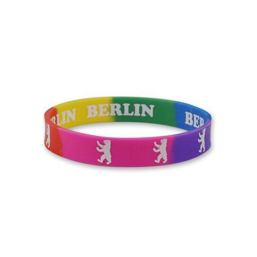 Armband Gummi Regenbogen