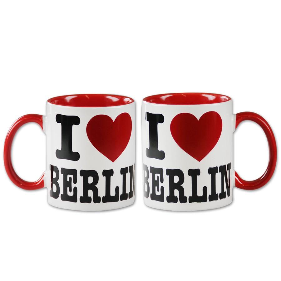 Tasse I (Herz) Berlin weiß