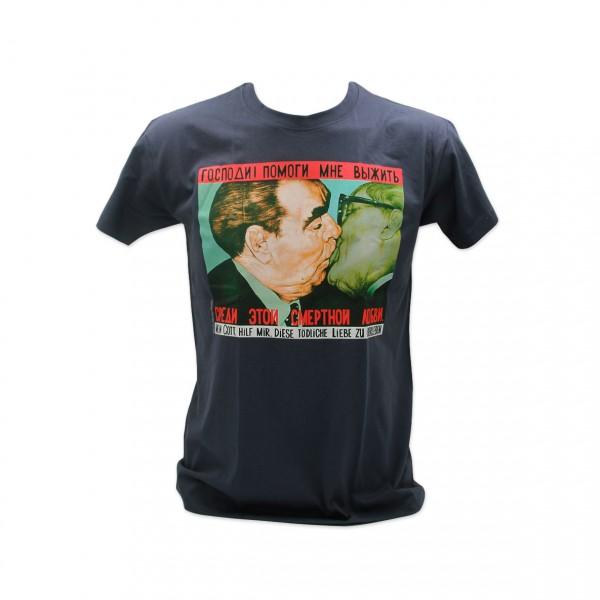 H Shirt Bruderkuss bunt grau Größe S