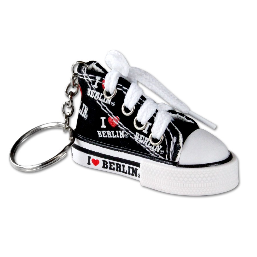 Schlüsselanhänger Schuh I (Herz) Berlin schwarz