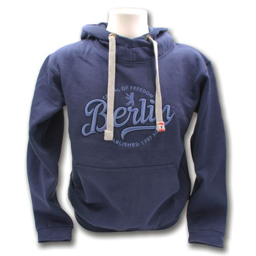 Sweater Lost Script Berlin blau