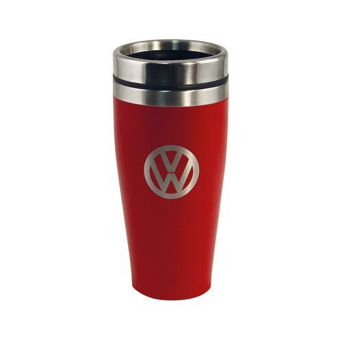 VW Edelstahl Thermobecher doppelwandig 400ml rot