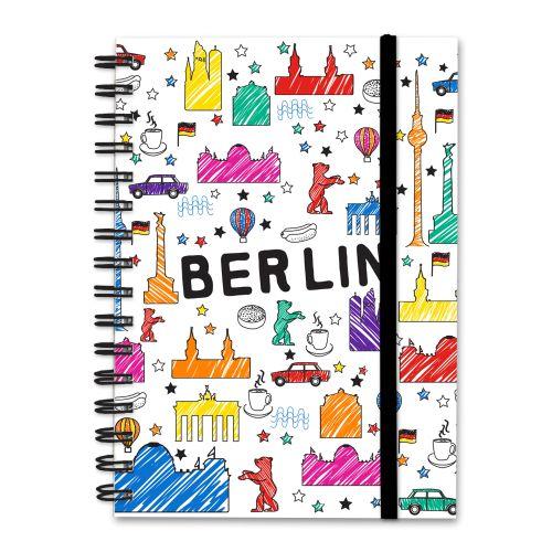 Notizbuch Scribble weiß