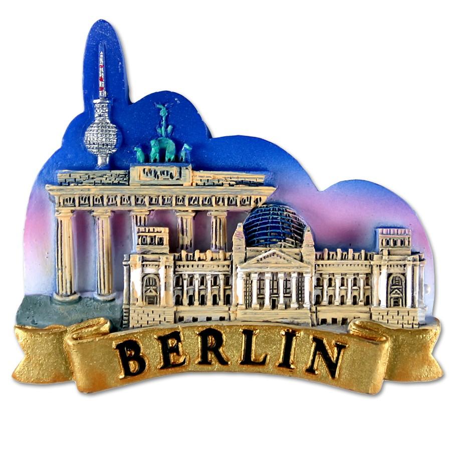 Magnet Poly 3er Relief Nacht Berlin