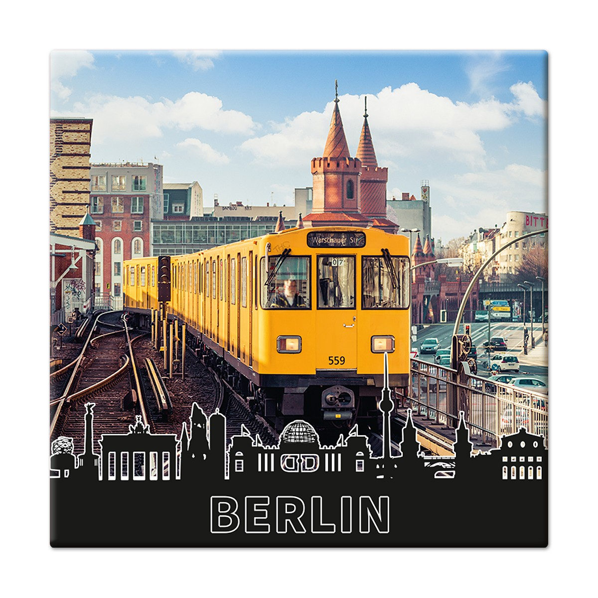Fotomagnet Berliner U-Bahn
