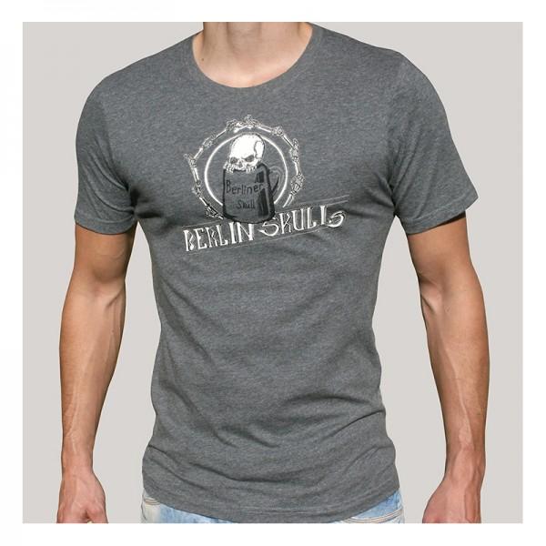 H Shirt Berlin Skulls organic grau Größe M