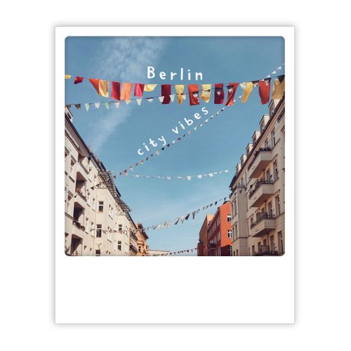 Polaroid Karte berlin city vibes in the sky Berlin