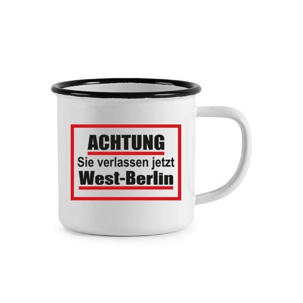 Tasse Emaile Achtung West-Berlin