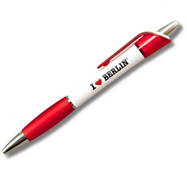 Kugelschreiber I (Herz) Berlin weiß-rot